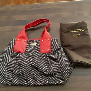 Kate Spade handbag red black and white